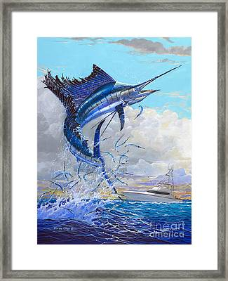 Free Jumper Off00152 Framed Print by Carey Chen