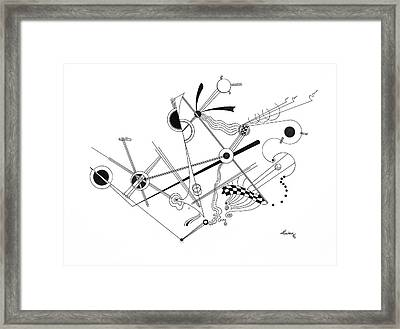Free Lines 1 Framed Print by Peter Hermes Furian