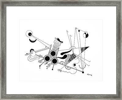 Free Lines 2 Framed Print by Peter Hermes Furian