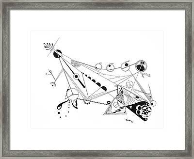 Free Lines 4 Framed Print by Peter Hermes Furian