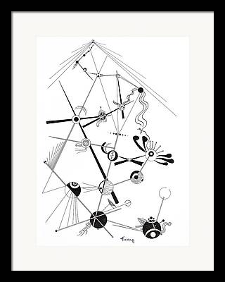 Macrocosm Drawings Framed Prints