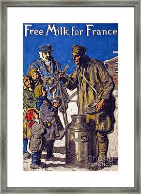 Free Milk For France Framed Print by Francis Luis Mora
