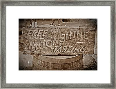 Free Moonshine Framed Print