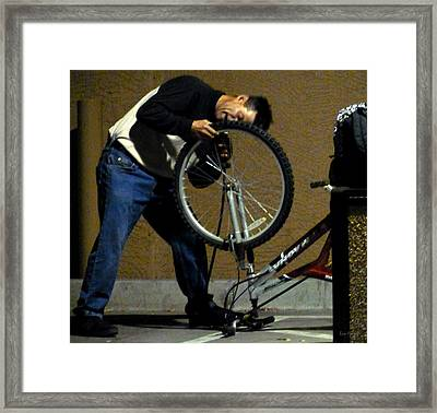 Free Refills Framed Print by Lin Haring