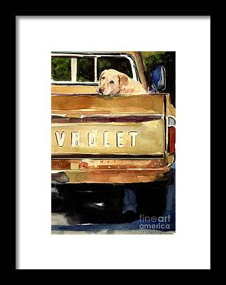 Vintage Chevrolet Truck Framed Prints