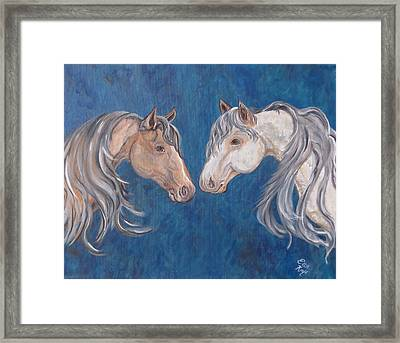 Framed Print featuring the painting Free Spirits by Ella Kaye Dickey