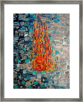 Framed Print featuring the painting Free Tibet by Jacqueline Athmann