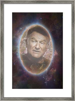 Free To Fly Tribute To Robin Williams Digital Artwork Framed Print