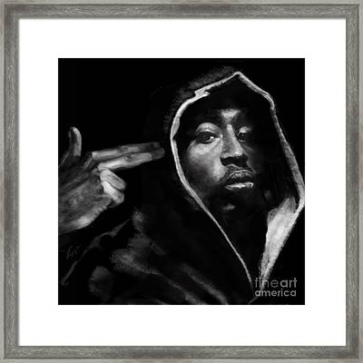 Free Will - 2 Pac Framed Print by Reggie Duffie