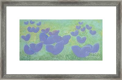 Free Your Hearts Green Lilac Abstract By Chakramoon Framed Print by Belinda Capol