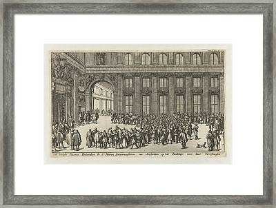 Freed Slaves To Thank The Mayors Of Amsterdam Framed Print by Jan Luyken And Jan Claesz Ten Hoorn