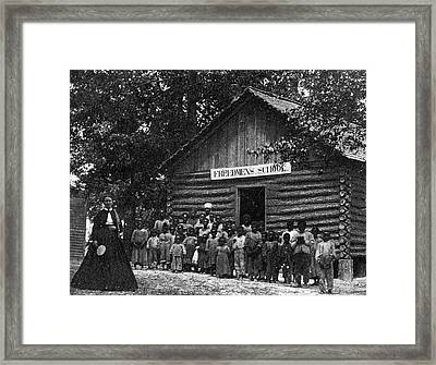 Freedmen School, C1867 Framed Print