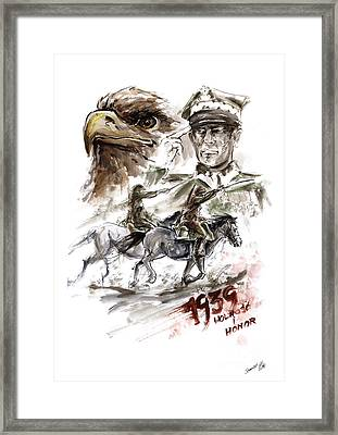Freedom And Honour. Framed Print by Mariusz Szmerdt