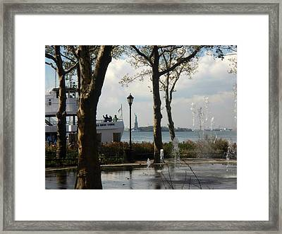 Freedom At A Distance Framed Print
