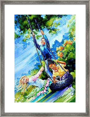 Freedom Chains Framed Print by Hanne Lore Koehler