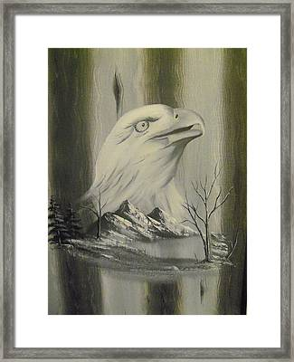 Freedom Hunter Framed Print by Ricky Haug