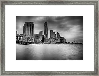 Freedom In The Skyline Framed Print