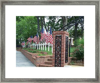 Framed Print featuring the photograph Freedom Is Not Free by Marilyn Zalatan