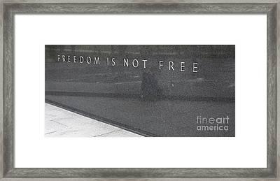 Freedom Is Not Free Framed Print by Steven Ralser