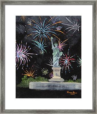 Freedom Framed Print by Judith Rhue