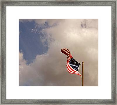 Freedom Moves Itself 2013 Framed Print by James Warren