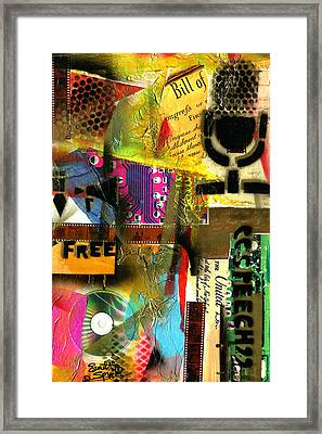 Freedom Of Speech 10 Framed Print