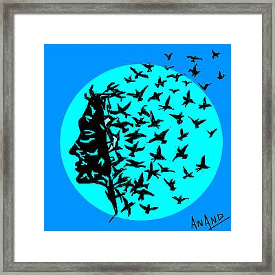 Freedom Of Thought Framed Print by Anand Swaroop Manchiraju