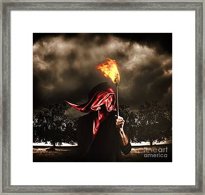 Freedom Or Fire. A Statute Of Liberty Framed Print