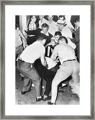 Freedom Rider Beaten Framed Print by Underwood Archives