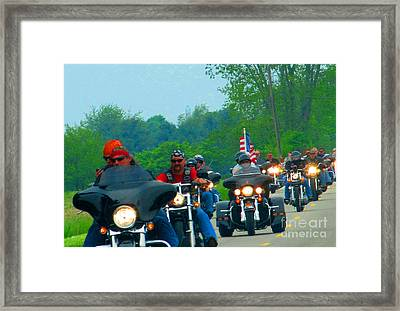 Freedom Riders Having So Much Fun Framed Print by Tina M Wenger