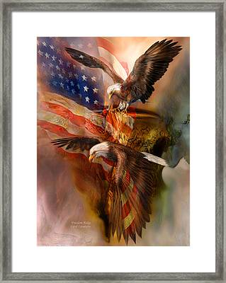 Freedom Ridge Framed Print by Carol Cavalaris