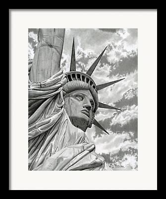 4th Of July Drawings Framed Prints