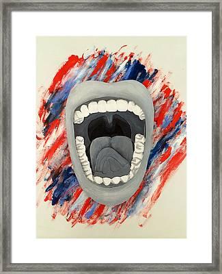 Americas Voice Framed Print by Scott French