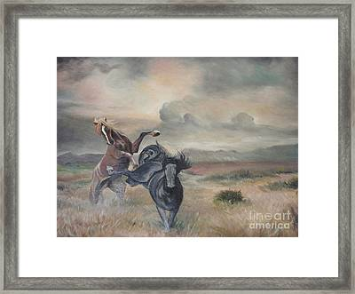 Framed Print featuring the painting Freedom by Sorin Apostolescu