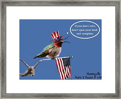 Freedom To Choose Framed Print by Diane V Bouse