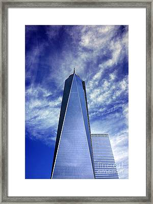 Framed Print featuring the photograph Freedom Tower - New York City by Rafael Quirindongo