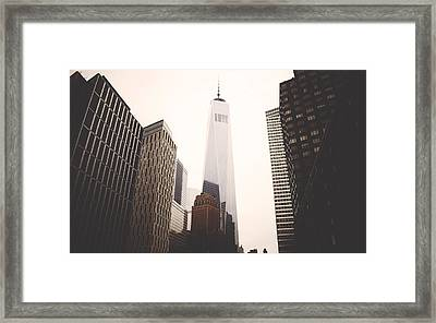 Freedom Tower  Framed Print by Amber Fite