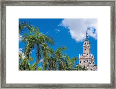 Freedom Tower At Miami Dade College Framed Print