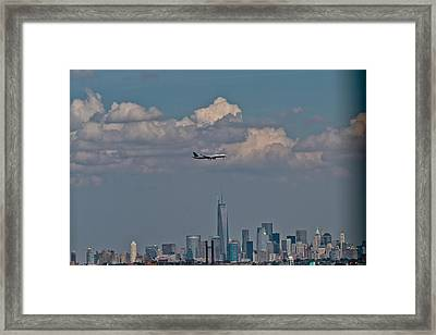 Freedom Tower Fly By Framed Print