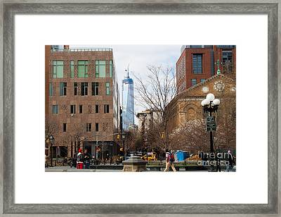 Freedom Tower From Washington Square Framed Print by Thomas Marchessault
