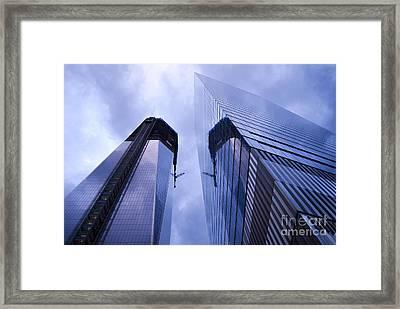 Freedom Tower Ground Zero New York City Framed Print by Sabine Jacobs