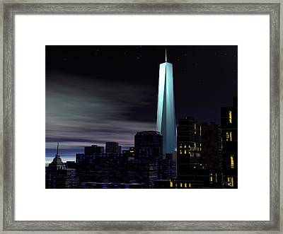 Freedom Tower Framed Print by John Pangia