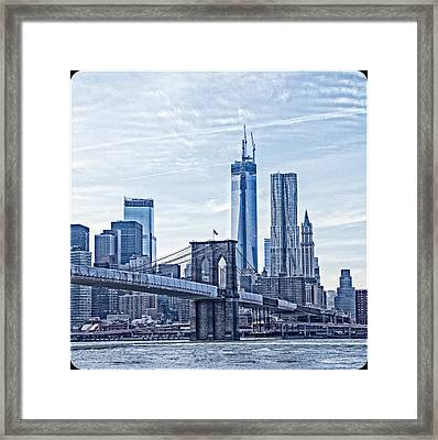 Freedom Tower Rising Framed Print by Frank Winters