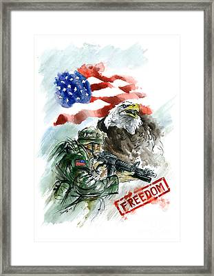 Freedom Usarmy Framed Print