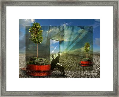 Freedom Window Framed Print by Rosa Cobos