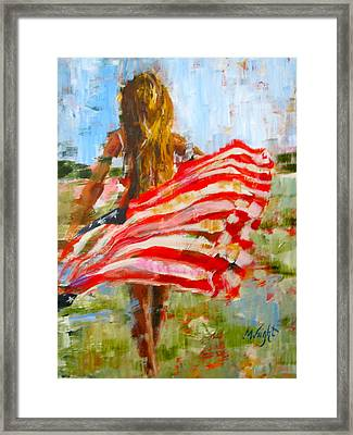 Freedom's Charge Framed Print by Molly Wright