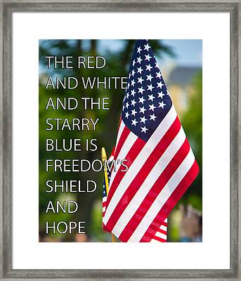 Freedom's Shield Framed Print