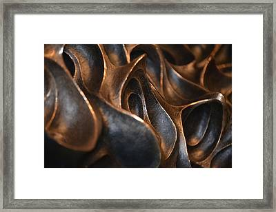 Framed Print featuring the photograph Freeform Metal  by Nadalyn Larsen