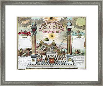 Freemason Emblematic Chart Framed Print by Granger