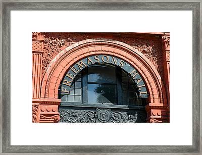 Framed Print featuring the photograph Freemason Hall Savannah by Allen Carroll